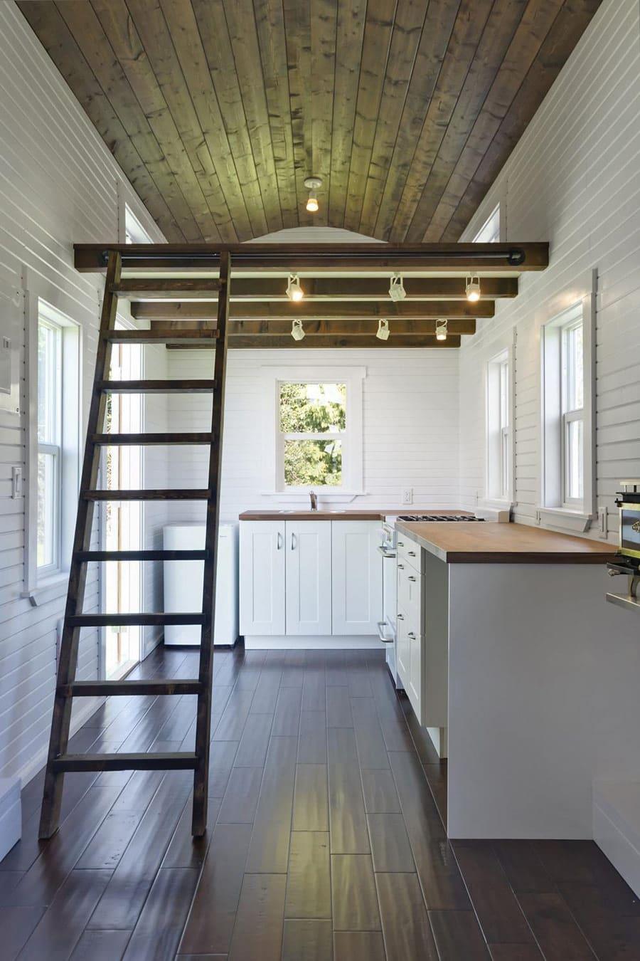 The Loft A 224 Square Feet Tiny House On Wheels Teeny Abode
